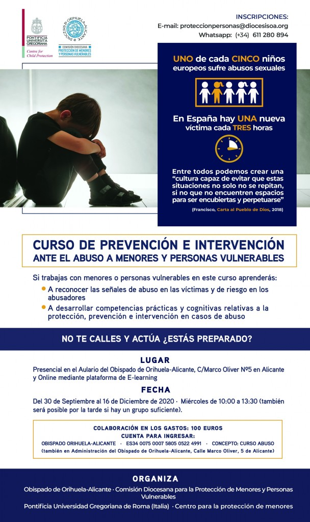 Curso de Prevención e Intervención ante el abuso a menores y personas vulnerables