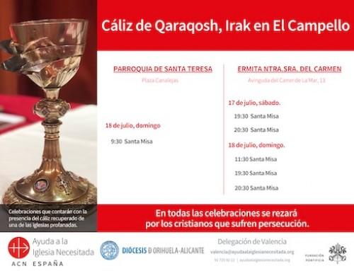 EL CÁLIZ DE QARAQOSH EN CAMPELLO